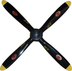 4 Blade Scale Black with Yellow Round Tips