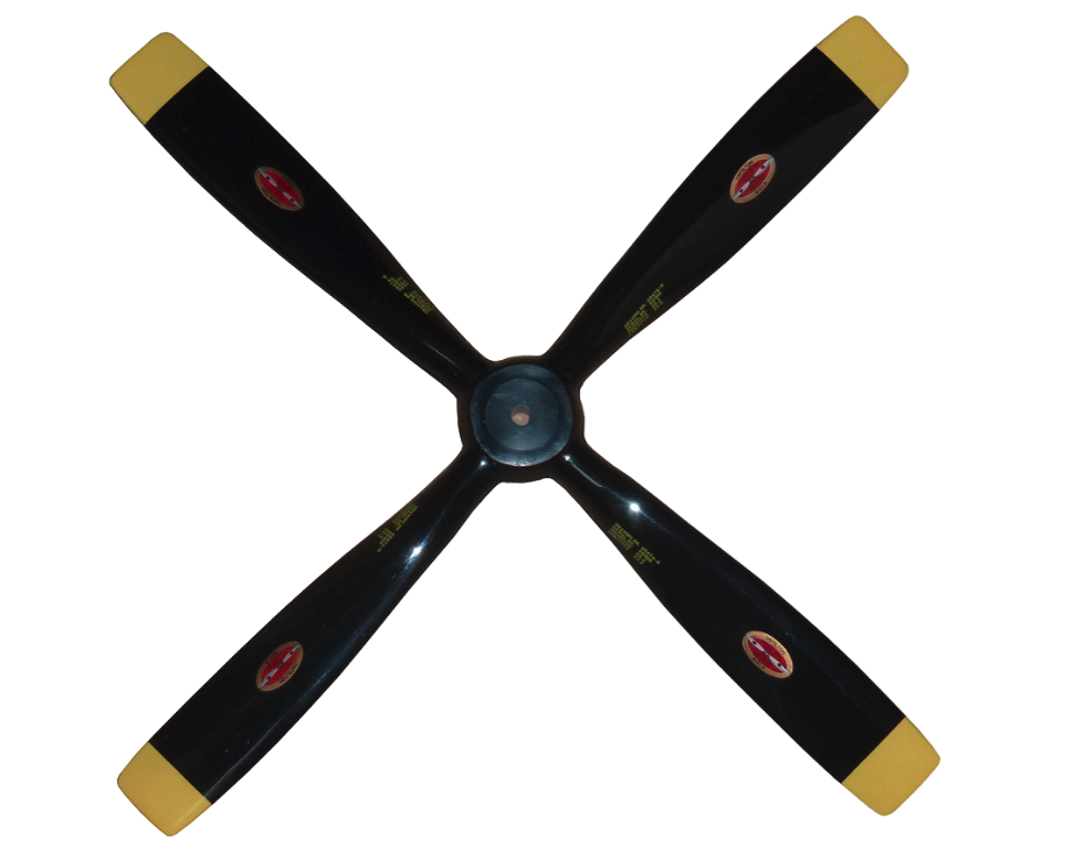 4 Blade Scale Black with Yellow Square Tips