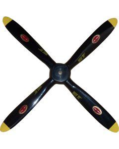 "Biela 19"" x 8"" Carbon Fiber Scale 4 Blade Corsair Prop"