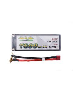Morris' Mini Motors 2s 7.4v 7600 mAh 100C - 200C Hard Case Lipo Battery With Deans Connector UK & EU Customers Only
