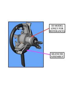Saito FA-120 R3 3 Cylinder Radial 4 Stroke Glow / Nitro Engine Exhaust Ring