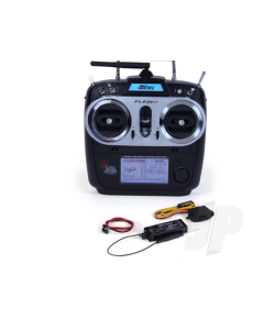 Hitec Flash 7 Channel 2.4GHz Transmitter Comes With Hitec Optima 7 Channel Receiver 2210505M1 Mode 1