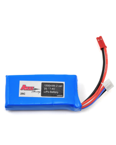 Ares 2s 1200mAh 7.4v 25c LiPo Battery Comes With Male JST Connector AZSZ2503