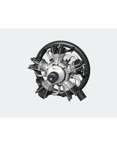 Test Run UMS 125cc Gas / Petrol 5 Cylinder Radial 4 Stroke Engine T-UMS5-125