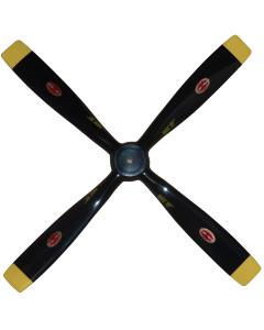 "Biela 15"" x  9"" Carbon Fiber Scale 4 Blade Mustang Prop"