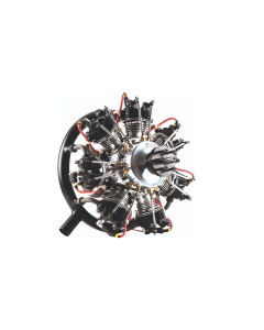 UMS 260cc Gas / Petrol 7 Cylinder Radial 4 Stroke Engine with Pump