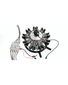 UMS 115cc Gas / Petrol 9 Cylinder Radial 4 Stroke Engine